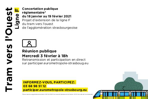Concertation publique mercredi 3 février à 18h sur participer.eurometropole-strasbourg.eu
